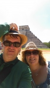 Us in front of el Castilo at Chichen Itza