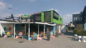 Photo of Container City complex in Cholula