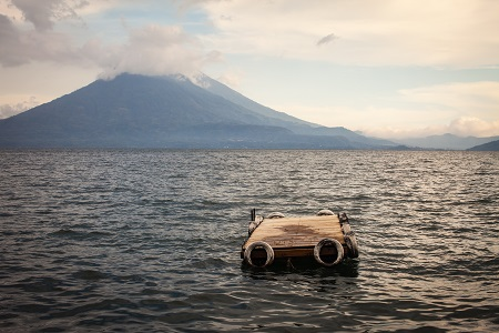 Lake Atitlan In The Rain