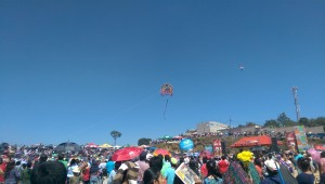 Kite launching at Sumpango Kite Festival