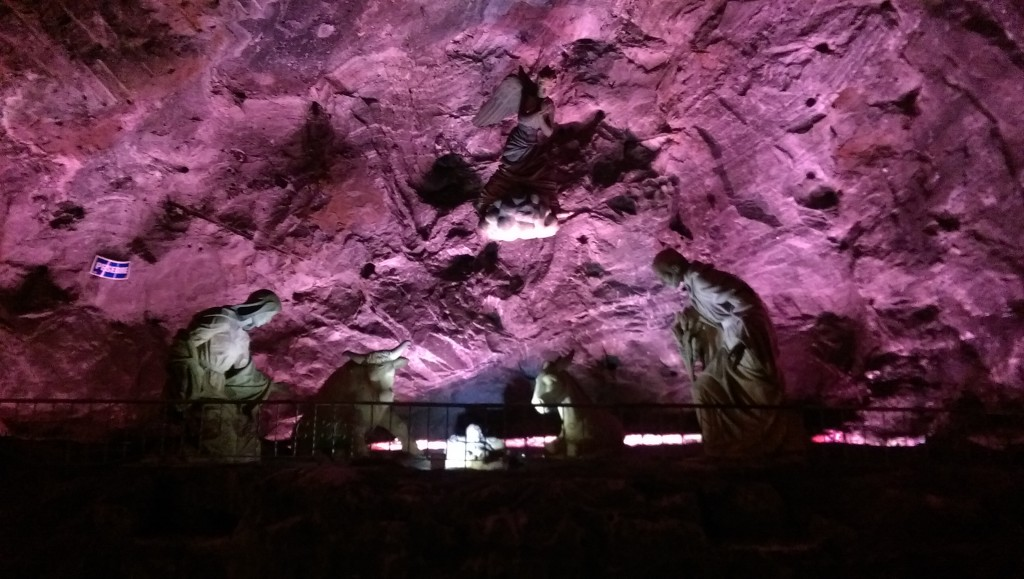 Statue in the Salt Cathedral at Zipaquira