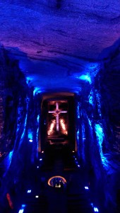 The central nave of the salt cathedral, taken from above