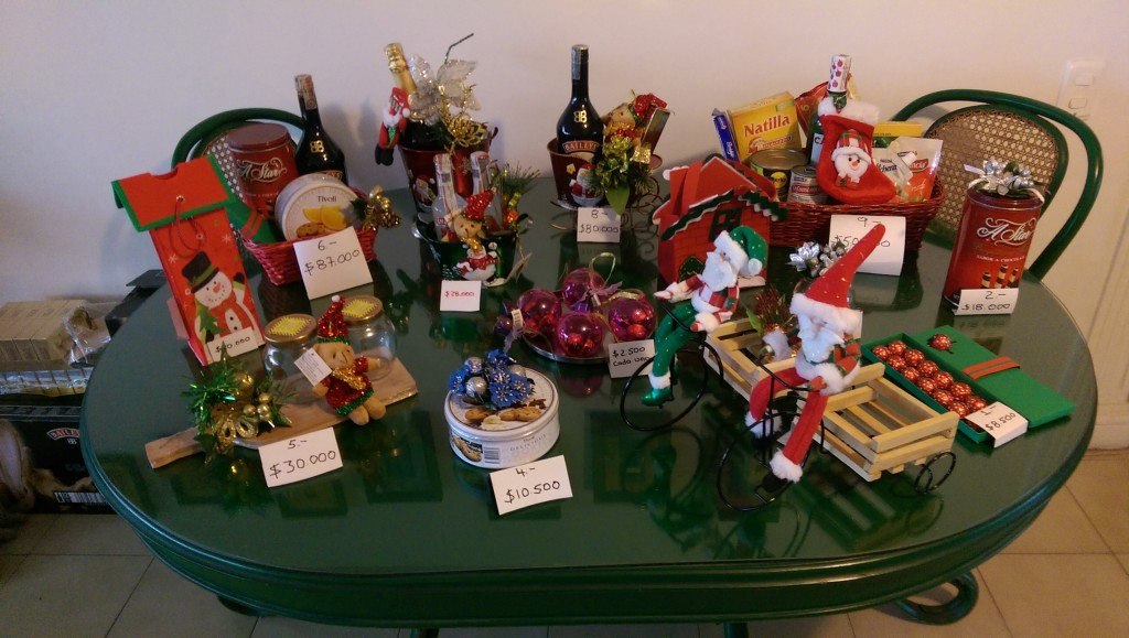 Christmas present packages on sale at my Ibague BnB
