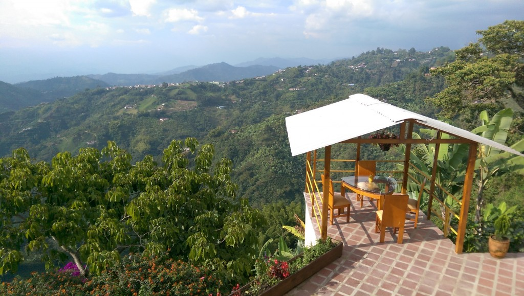 The view from my finca in Manizales
