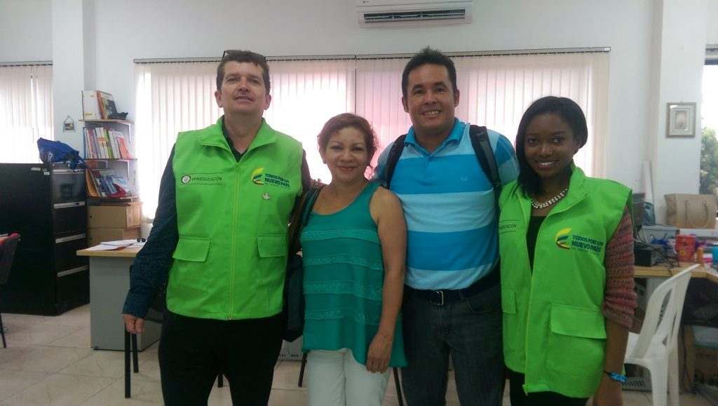 Me with Martha, Alvaro and Max - co-teachers and native speakers at IE del Valle school