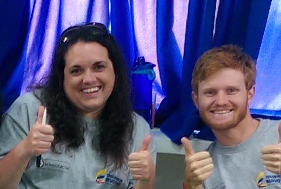 Jenny with Tim, her fellow co-teacher at Cardenas Mirri?ao, Palmira