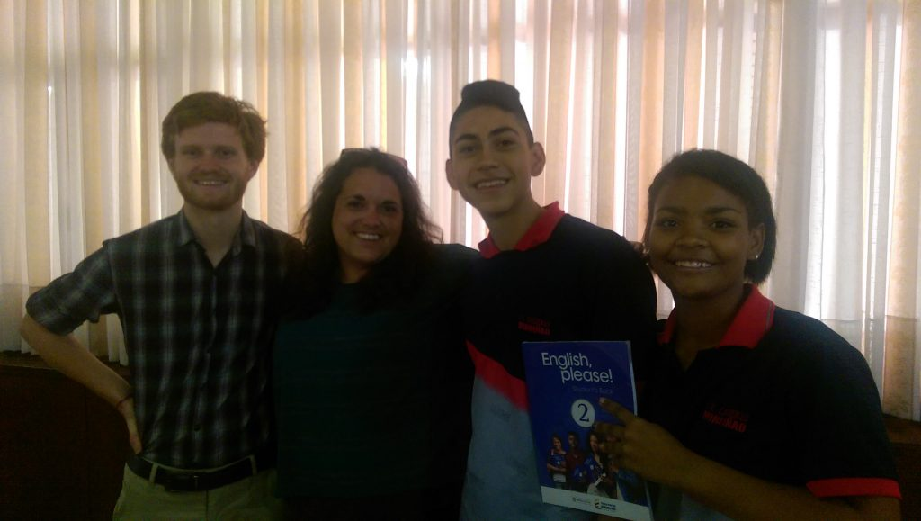 Jenny and Tim with students at the Alcaldia, Palmira