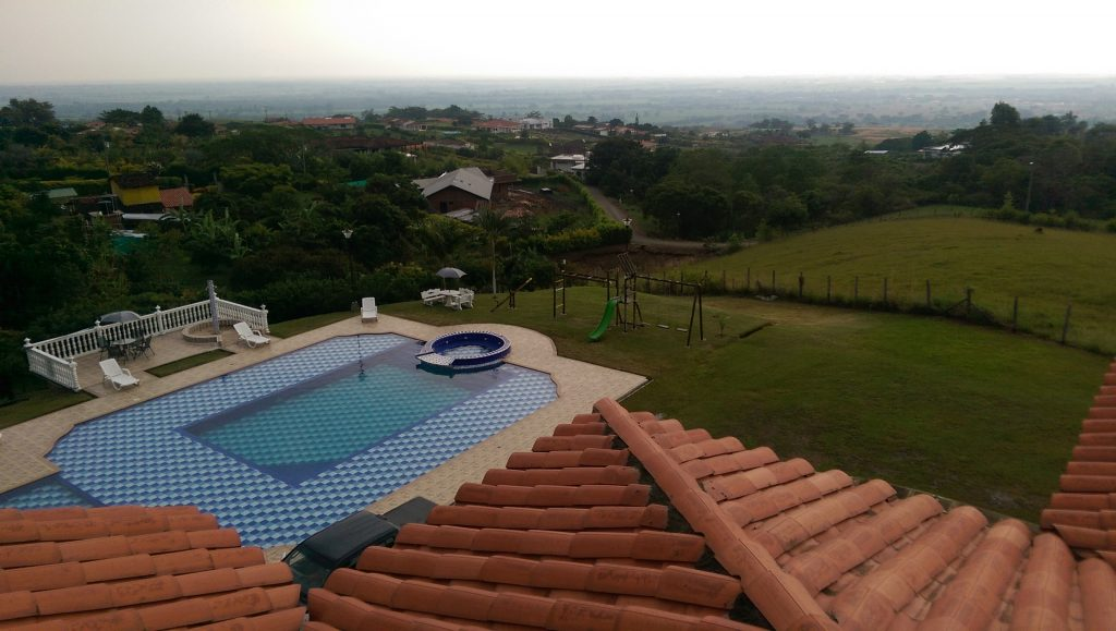 View across the valley from the top of Maritza's finca