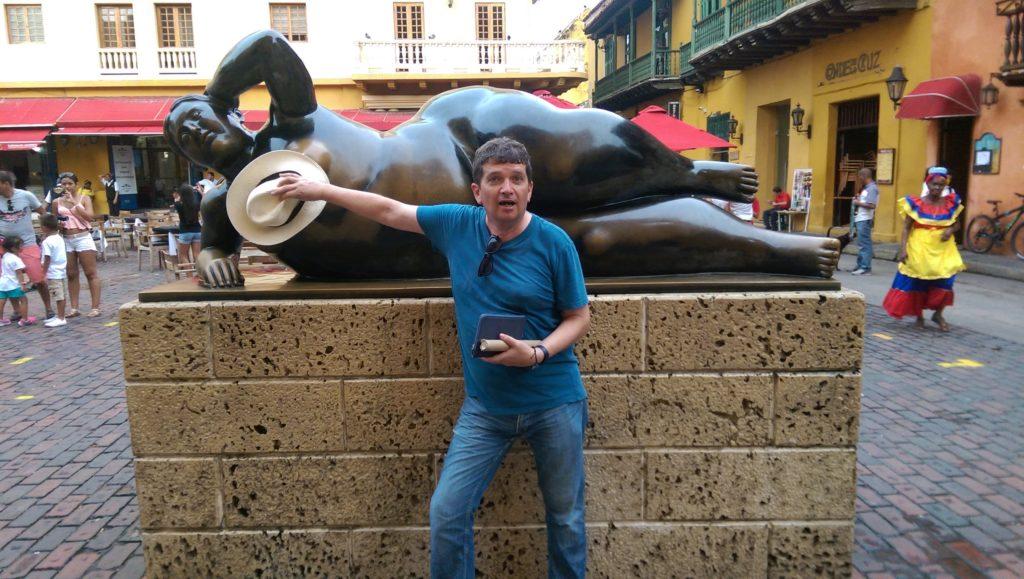 Botero sculpture in Cartagena old town