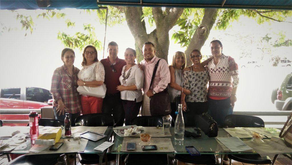 Teachers from Politecnico at Karen's Pizza in Las Mercedes, Plamira