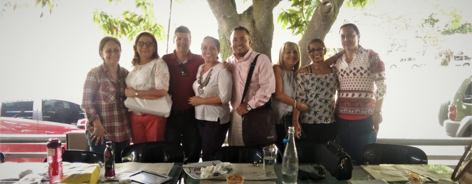 Teachers from Politecnico at Karen's Pizza in Las Mercedes, Plamira