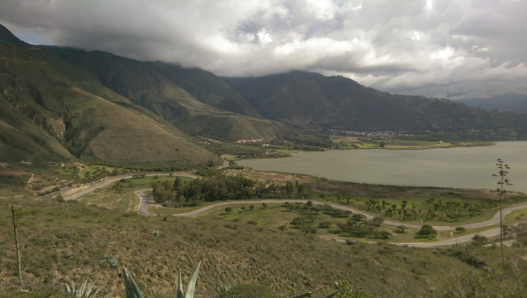 View of the lake and Finca Sommerkind on the left
